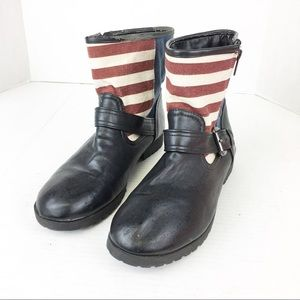 Shoes - SZ 8 Black Flag & Studded Boots